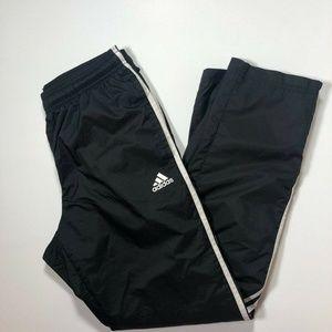 Adidas Mens Essentials 3-Stripe Wind Pants, Black